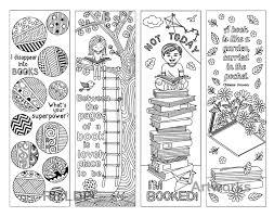 8 Coloring Bookmarks With Quotes On Books And Reading Printable