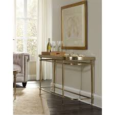 Hooker Furniture Highland Park Glass Top Console Table in Gold