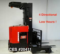 CES #20411 Raymond 4 Directional Forklift - Coronado Equipment Sales Forklift Rentals From Carolina Handling Wikipedia Raymond Cporation Trusted Partners Bastian Solutions Turret Truck 9800 Swingreach Lift Heavy Loads Types Classifications Cerfications Western Materials Raymond Launches Next Generation Of Reachfork Trucks With Electric Pallet Jack Walkie Rider Malin Trucks Jacks Forklifts And Material Nj Clark Dealer Sales Used Duraquip Inc 60c30tt Narrow Aisle Stand Up