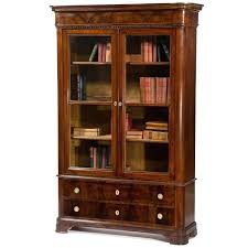 Drop Front Writing Desk by Desk Antique Italian Walnut Bookcase With Glass Doors Circa 1850