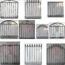 BLACK WROUGHT IRON METAL GARDEN GATE SMALL GATES MODERN WALL STEEL