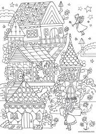 Fairy House Printable Adult Coloring Page