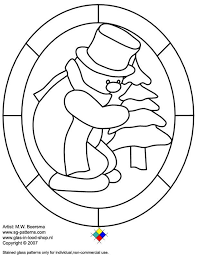 Stained Glass Christmas Coloring Pages