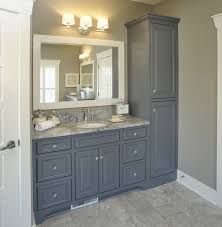 bathroom with no linen closet vanity with linen cabinet for