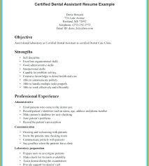 Dentist Resume Sample Dental Samples General Assistant