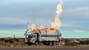 100 Santa Fe Truck Driver Safe In Garbage Truck Fire News Reporter