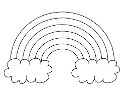 Coloring Page Rainbow Free Printable Rainbow Coloring Pages For