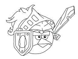 Angry Birds Coloring Sheets To Print Pages Epic Page Space