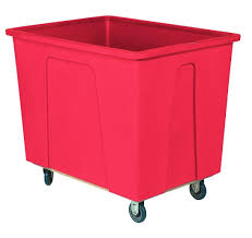 96 Gallon (12 Bushel) Red Plastic Box Truck, 5