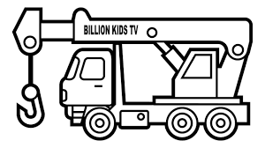 100 20 Trucks Construction Coloring Pages With Colors Crane Truck Vehicles
