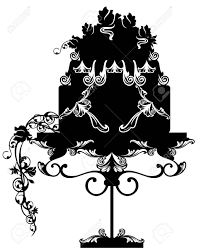 birthday or wedding cake decorated with rose flowers on a vintage table black and white