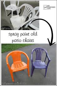 Webbed Lawn Chairs With Wooden Arms by Spray Painted Plastic Outdoor Chairs Update One Year Later