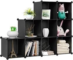 homfa würfelaufbewahrungsorganizer 9 würfel diy kunststoff modularer schrank aufbewahrung organizer wohnzimmer büro bücherregale für bücher tücher