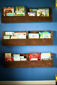 Diy Kids Book Shelf 4 Wood Pallet Bookshelf Home Design Ideas For