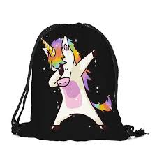 2018 New Cute Kid Baby Unicorn Pattern Sport Bags Swimming Gym Pump Bag Sports School