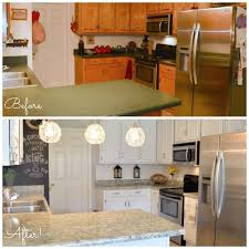 Cabinet Refinishing Kit Before And After by Best 25 Countertop Makeover Ideas On Pinterest Affordable