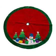 This 36 Inch White Non Woven Snowman Christmas Tree Skirt Will Give Your An Bit Of A More Elegant Look