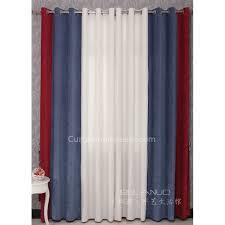 jungen schlafzimmer vorhänge in rot blau und weiß