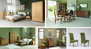 Oak Furniture With Green Walls