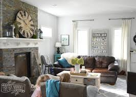 Our Vintage Industrial Fall Mantel On Design Guide How To Style A Sectional Sofa Living