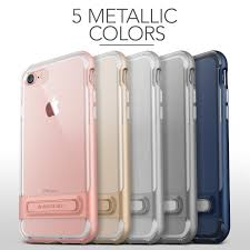 VRS Design CRYSTAL BUMPER Series Clear Kickstand Case for iPhone 7