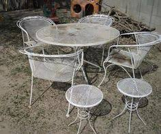 Vintage Woodard Patio Chairs by Salterini Wrought Iron