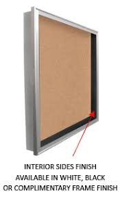 SwingFrame Designer Wall Mounted Metal Large Display Case 6 Inch Deep W Cork Board