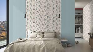 blätter blau grau rasch vlies tapete floral