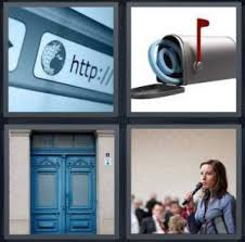 4 Pics 1 Word Answer for Browser Mailbox Door Speak