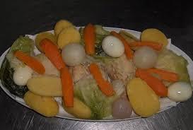 cuisiner morue de noël cuit avec des légumes recette portugaise