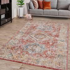 wohnzimmer teppich marokkanisches design bordüre