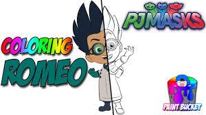 PJ Masks Villain Romeo New Coloring Page
