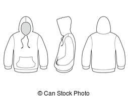 Hooded sweater vector illustration Vector template