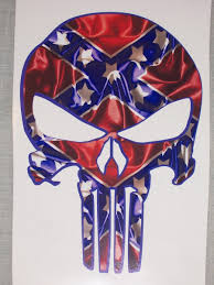 100 Rebel Flag Truck REBEL FLAG Punisher Skull Decal