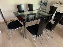 esstisch und 6 stühle glastisch