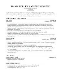 Amazing Design Bank Teller Resume Sample Template Examples Of For A Job With No Experience