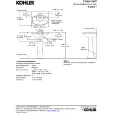 Kohler Cimarron Pedestal Sink by Kohler K 2362 1 0 Cimarron White Pedestals Single Bowl Bathroom