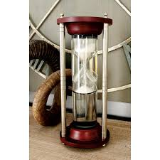 Decorative Rain Gauges Replacement Glass by 8 In X 11 In Brown Wood And Clear Glass Cloche 94961 The Home
