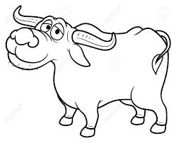 Illustration Of Cartoon Buffalo