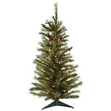 Nearly Natural 5441 Christmas Tree With Pine Cones And Clear Lights 3 Feet