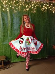 Ugly Holiday Sweater Party Idea Make A Tree Skirt Into