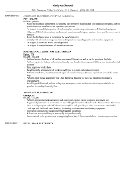 Download Assistant Electrician Resume Sample As Image File