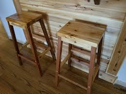 Homemade Wooden Bar Stools Diy Stool Plans Rustic Outdoor Building Chairs Home Made With Album