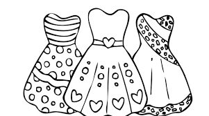 Stunning Idea Coloring Page Dress Children Pages Girls Fresh Concept