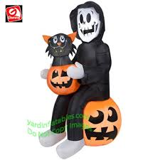 Inflatable Halloween Cat Archway by Halloween Inflatables