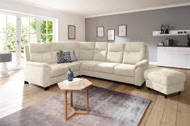 home affaire ecksofa wahlweise mit bettfunktion mit federkern landhaus stil beige material holz metall polyester polyamid bocca mit