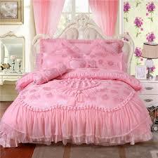 Luxurious Red Pink Bedding Sets Fashion Wedding Bedding Set Silk