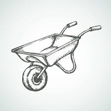 Download Wheelbarrow Vector Drawing Stock Vector Illustration