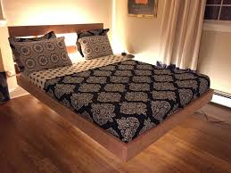 bed frames diy floating bed frame plans diy platform bed plans