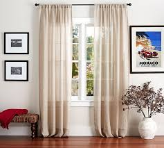 Pottery Barn Outdoor Curtains by Belgian Flax Linen Sheer Drape Pottery Barn